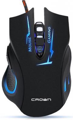 Мышь проводная Crown CMXG-615 чёрный USB