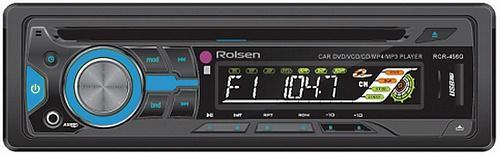 Автомагнитола Rolsen RCR-456B USB MP3 CD FM SD 1DIN 4x60Вт пульт ДУ черный