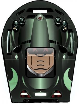 Ледянка RT SNOW AUTO L SLR MClaren до 150 кг зеленый серый ПВХ