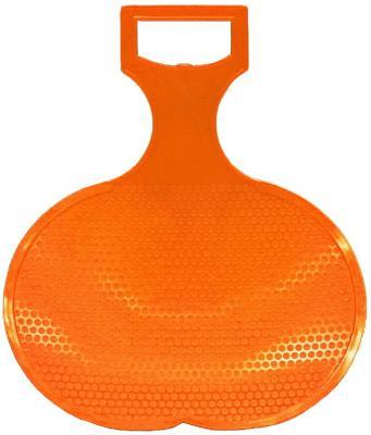 Санки RT Ледянка малые оранжевый пластик санки ледянка пластик снежный гонщик до 40 кг пластик