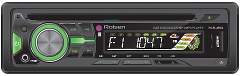 Автомагнитола Rolsen RCR-456G  USB MP3 CD DVD FM SD 1DIN 4x60Вт пульт ДУ черный