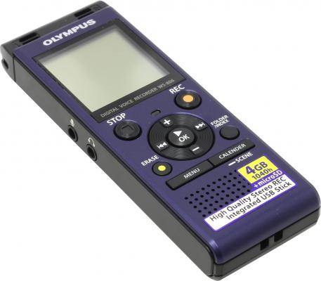 Цифровой диктофон Olympus WS-806 4Гб синий диктофон olympus ws 806 me 51s 4 gb синий