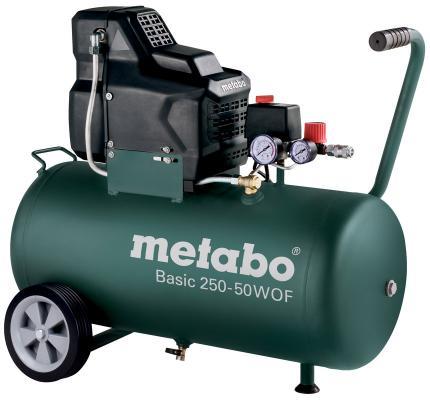 Компрессор Metabo Basic250-50W OF безмасляный 601535000 компрессор metabo 250 10 w of безмасляный 601544000