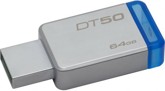 Флешка USB 64Gb Kingston DataTraveler DT50/64GB флешка usb kingston datatraveler g4 64гб usb3 0 белый и фиолетовый [dtig4 64gb]