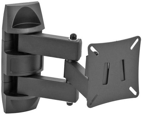 "Кронштейн Holder LCD-SU1505-B черный для ЖК ТВ 10-26"" настенный поворот наклон до 25 кг"
