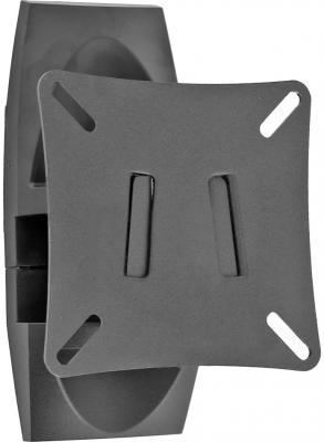 "Кронштейн Holder LCD-M1503-B черный для ЖК ТВ 10-26"" настенный поворот наклон до 25 кг"