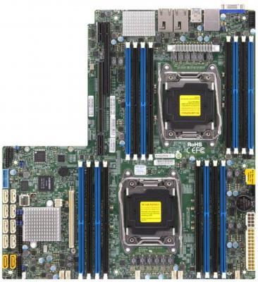 Мат. плата для ПК Supermicro X10DRW-I 2 х Socket 2011-3 C612 16xDDR4 1xPCI-E 16x 10xSATAIII Нестандартный