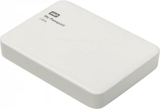 "Внешний жесткий диск 2.5"" USB3.0 4 Tb Western Digital My Passport Ultra WDBNFV0040BWT-EEUE белый"