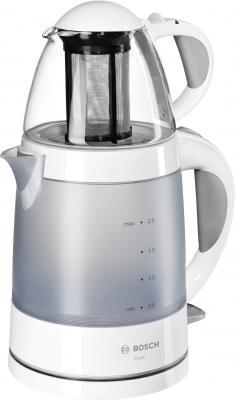 Фото - Чайник Bosch TTA2201 1785 Вт белый серый 2 л пластик газовая колонка bosch bosch wr10 2 p23 17400 вт 10 л