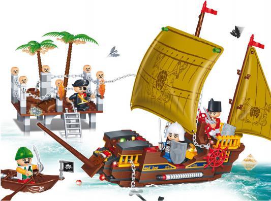Конструктор BanBao Пиратская лодка 502 элемента