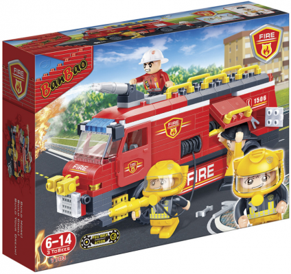 Конструктор BanBao Пожарная машина 288 элементов 7103