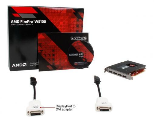 Видеокарта 4096Mb Sapphire FirePro W5100 PCI-E GDDR5 4xDP 100-505974 Retail