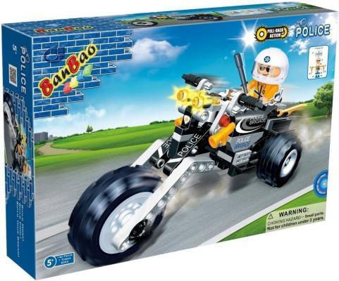Конструктор BanBao Полицейский на мотоцикле 140 элементов 8352