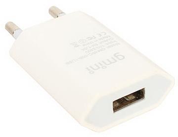 Сетевое зарядное устройство Gmini GM-WC-008-1USB USB 1A белый