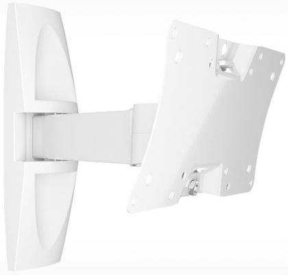 Кронштейн Holder LCDS-5063 белый для ЖК ТВ 19-32 настенный от стены 265мм  наклон +15°/-25° поворот 90° до 30кг тумба holder albero tv 37140 н черная