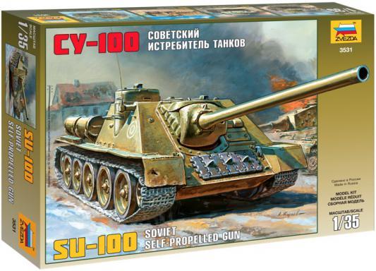 Истребитель танков Звезда СУ-100 1:35 зеленый 3531 истребитель танков звезда советский истребитель танков ису 122 1 72 зеленый 5054