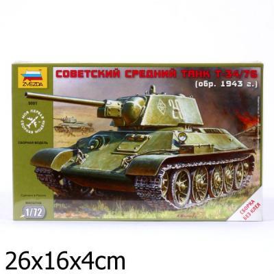 Танк Звезда Советский средний танк Т-34 1:72 серый 5001 танк звезда советский легкий танк т 60 1 100 хаки 6258