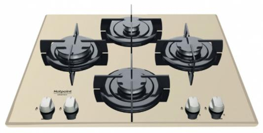 Варочная панель газовая Ariston DD 642 /HA(CH) RU бежевый варочная панель газовая ariston pk 640 x серебристый