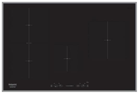 Варочная панель электрическая Ariston KIS 841 F B черный