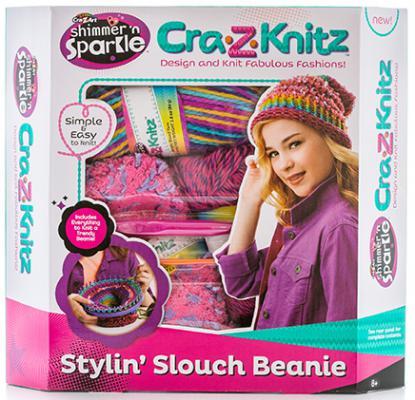 Набор для вязания Cra-Z-Art Стильная шапка-колпак от 8 лет 6 шт 17436 крези арт cra z knitz 17436 набор для вязания стильная шапка колпак