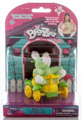 Игровой набор Beanzees Плюшевый зайчик в каталке 2 предмета B32061