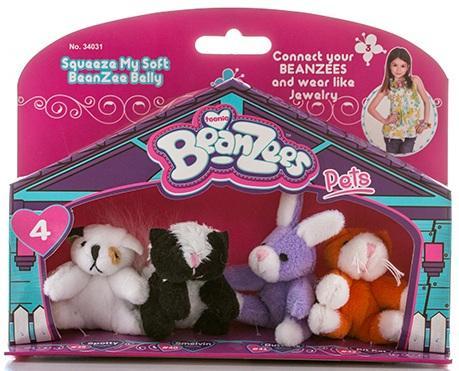 """Игровой набор Beanzeez """"Песик, Скунс, Кролик, Котик"""" 4 предмета"""