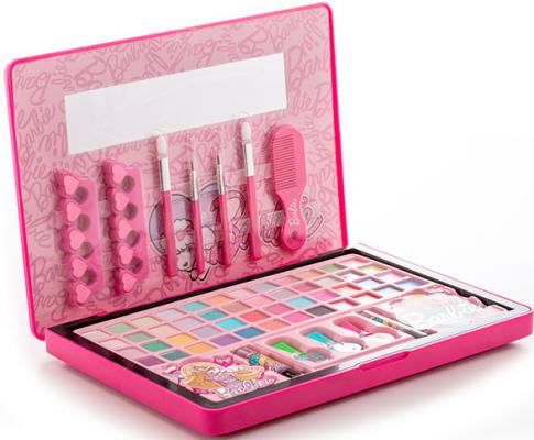 Игровой набор детской декоративной косметики Markwins Barbie в кейсе (большой) 20 предметов