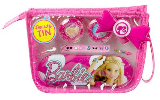 Игровой набор детской декоративной косметики Markwins Barbie в сумочке 9 предметов