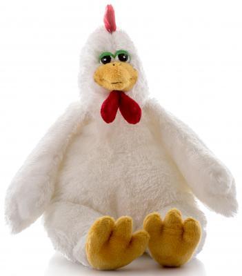 Мягкая игрушка Aurora Петушок плюш белый 25 см 10-302