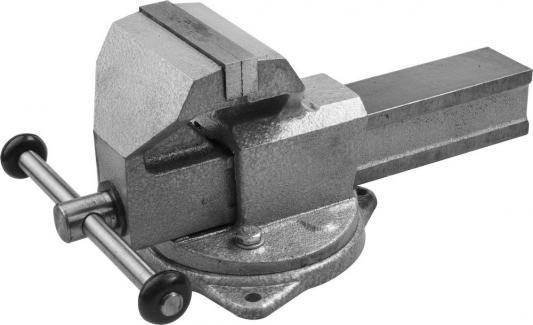 Тиски Зубр Эксперт слесарные с поворотным основанием 125мм 32606-125 тиски зубр 32725