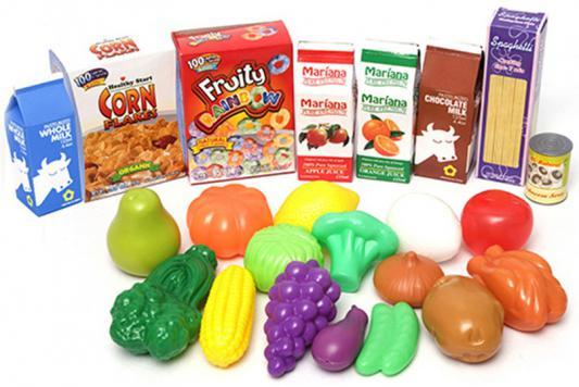 Игровой набор Boley Корзинка с продуктами 23 предмета