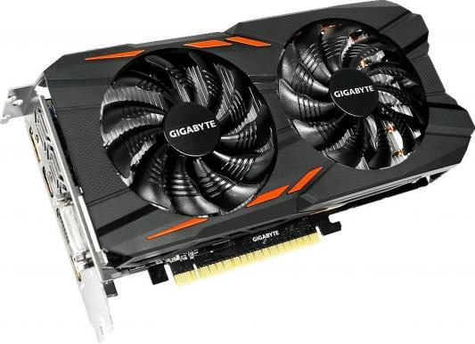 Видеокарта 2048Mb Gigabyte GeForce GTX1050 PCI-E 128bit GDDR5 DVI HDMI DP HDCP GV-N1050WF2OC-2GD Retail