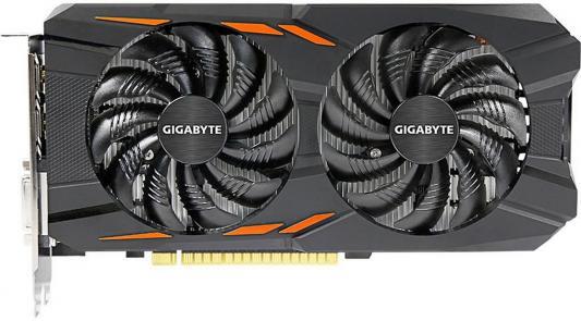 Видеокарта 4096Mb Gigabyte GeForce GTX1050 Ti PCI-E 128bit GDDR5 DVI HDMI DP HDCP GV-N105TWF2OC-4GD Retail видеокарта gigabyte geforce gtx 1050ti 4096mb gv n105toc 4gd dvi d hdmi dp ret