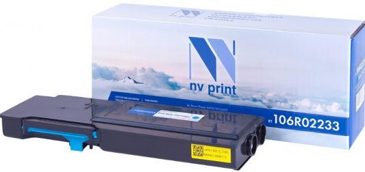 Картридж NV-Print 106R02233 для Xerox Phaser 6600 WC 6605 6000стр Голубой принт картридж xerox 106r02251 желтый 2k phaser 6600 wc 6605