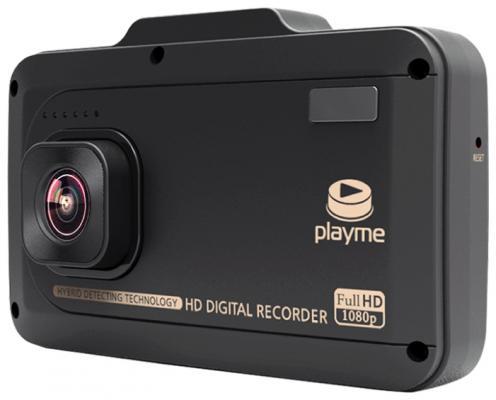 "Видеорегистратор PlayMe P500 3.5"" 1920x1080 140° microSD microSDHC + радар-детектор автомобильный"