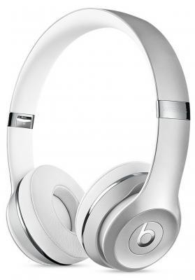 Наушники Apple Beats Solo 3 WL серебристые MNEQ2ZE/A гарнитуры beats наушники beats solo 2 wl красный mhnj2ze a