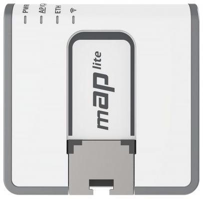 Беспроводной маршрутизатор MikroTik mAP lite 802.11n 300Mbps 2.4 ГГц 1xLAN RBmAPL-2nD