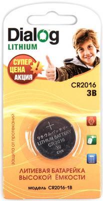 Батарейка Dialog CR2016-1B CR2016 1 шт