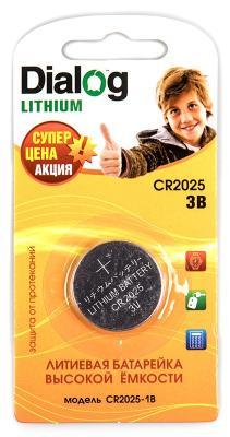 Батарейки Dialog Lithium CR2025 1 шт CR2025-1B