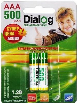 Аккумуляторы Dialog HR03/500-2B 500 mAh AAA 2 шт