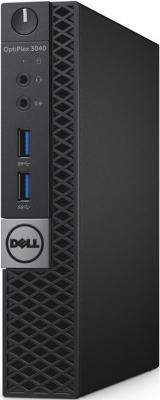 Компьютер DELL Optiplex 3040 Micro Intel Core i3-6100T 4Gb 500Gb Intel HD Graphics 530 Linux черный 3046-3492
