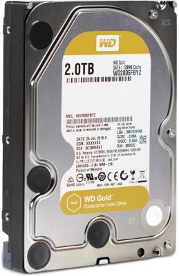 Жесткий диск 3.5 2 Tb 7200rpm 128Mb cache Western Digital Gold SATAIII WD2005FBYZ