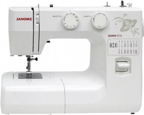 все цены на Швейная машина Janome Juno 513 белый/цветы в интернете