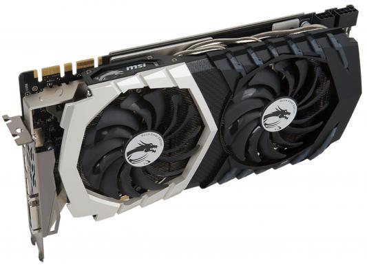 Видеокарта 8192Mb MSI GeForce GTX 1070 QUICK SILVER 8G OC PCI-E Retail