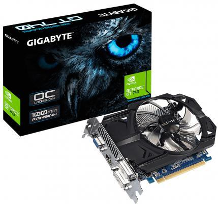 Видеокарта 2048Mb Gigabyte GT740 PCI-E GDDR5 GV-N740D5OC-2GI V3.0 Retail