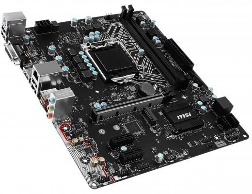 Мат. плата для ПК MSI H110M-A PRO M2 Socket 1151 H110 2xDDR4 1xPCI-E 16x 2xPCI-E 1x 4xSATAIII mATX Retail