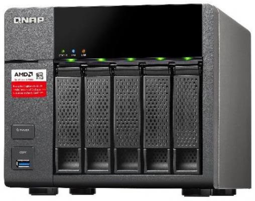 "Сетевое хранилище QNAP TS-563-8G 2.0ГГц 5x3.5""HDD hot swap 2xLAN 5xUSB"