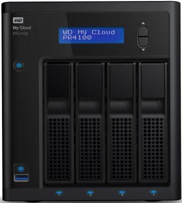 Сетевое хранилище WD My Cloud Pro PR4100 24Tb WDBKWB0240KBK-EEUE накопитель на жестком магнитном диске wd сетевой накопитель wd my cloud pro pr4100 wdbkwb0000nbk eeue 0гб nondrive 3 5 lan nas