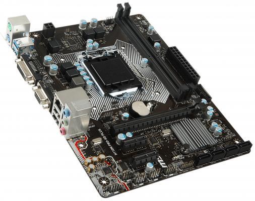 Мат. плата для ПК MSI H110M PRO-VD PLUS Socket 1151 H110 2xDDR4 1xPCI-E 16x 2xPCI 4xSATAIII mATX —