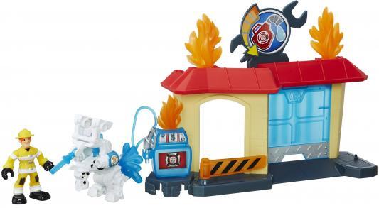 Игровой набор Hasbro Playskool Heroes ТРАНСФОРМЕРЫ СПАСАТЕЛИ: гоночные машины B5582 + спасатели B4963